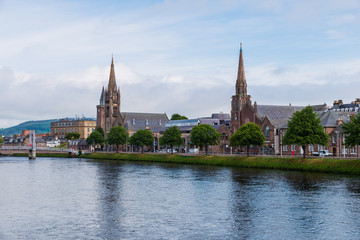Inverness city view from the river side