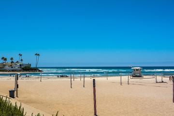 The beach along the Camino del Mar, Solana Beach, California