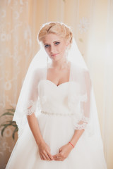 classic portrait of the bride