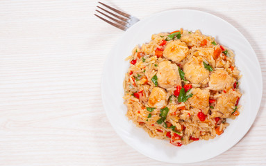 Chicken Breast with Rice and vegetables