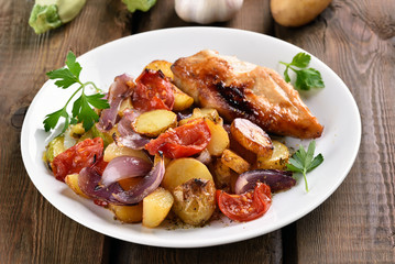 Mixed vegetable with chicken breast