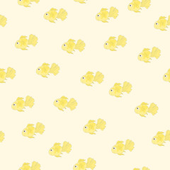 Goldfish seamless background.