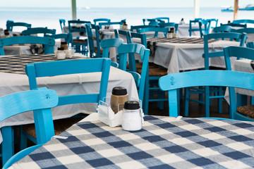 Greek tavern by the sea, Greece
