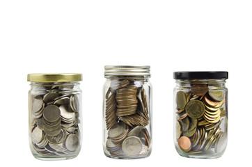 full coins in bottle