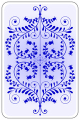 Poker playing card backside blue