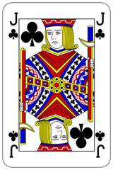 Poker playing card Jack club