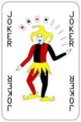 Poker playing card Joker