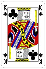 Poker playing card King club
