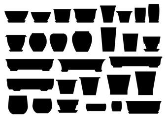 Jardiniere/graphic vector of silhouette jardiniere