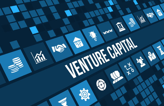 Venture Capital  concept image with business icons and copyspace.