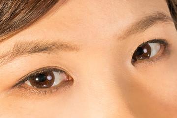 若い女性の顔のアップ  Up of the young Asian face