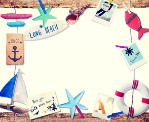Invitation to the Summer Beach Holiday Concept