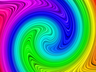 Rainbow Colored swirl