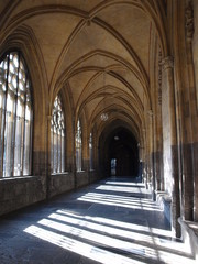 The cloister of the Basilica of Saint Servatius in Maastricht, Netherlands.