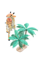 Toy Giraffe with Trees