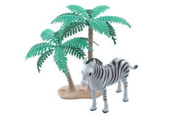 Toy Zebra with Trees