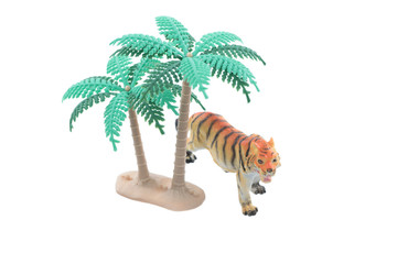 Toy Tiger with Trees