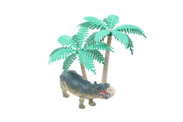 Toy Hippo with Trees
