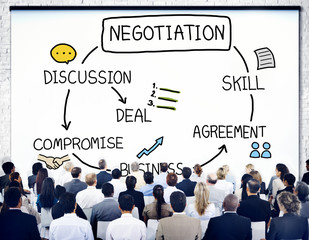 Negotiation Cooperation Discussion Collaboration Contract Concep