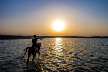ride off into the sunset in egypt
