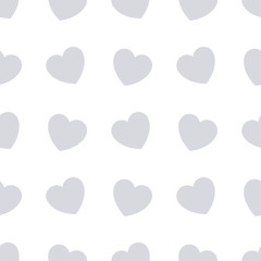 Gray hearts seamless bakground pattern