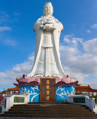 The 25-meter statue of Goddess Guanyin (Goddess of Mercy). Keelung city