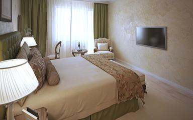 Elegant bedroom classic design