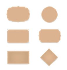Set of paper labels. Vector elements