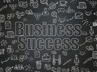 Business concept: Business Success on School Board background