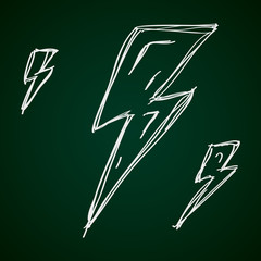 Simple doodle of a lightning bolt