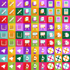 Web icons modern design for mobile shadow, icon set education