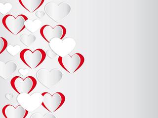 Herz Grußkarte mit Textfeld