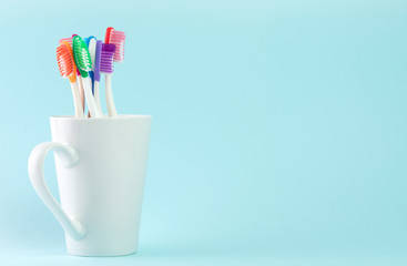 Multicolor toothbrushes