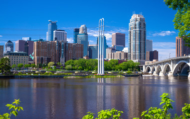 mississippi river, minneapolis skyline