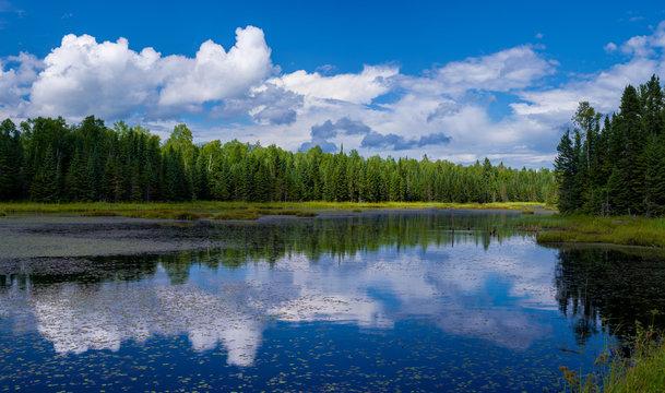 reflections, lake gust, minnesota