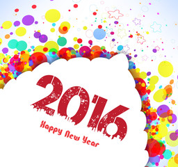 Happy new year 2016. Abstract colorful banner background