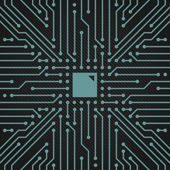 Decoration backdrop circuit board vector clipart four.  Useful for computers, IT company, business design.