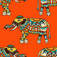 elephants Vector background