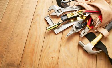 Obraz tool belt with tools - fototapety do salonu