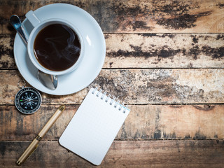 travel equipment and coffee