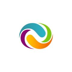 colorful infinity abstract vector logo