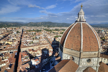 Florence and Cathedral Dome View