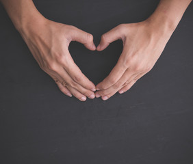 Heart shape, hand gesture