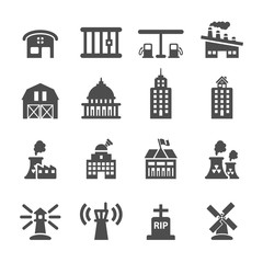 building icon set 8, vector eps10