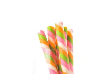 rainbow wafer stick on white