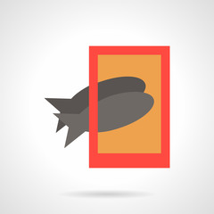 Taking fish photo flat simple vector icon
