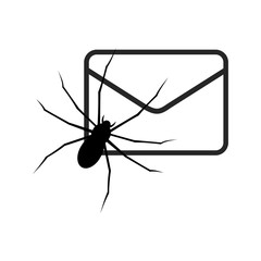 White E mail virus attack, internet trojan detected - fototapety na wymiar
