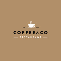 Coffee House Vector Logo Template