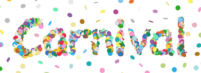 Abstract Confetti Word - Carnival Letter - Colorful Panorama Vector - Konfetti, Buchstaben, Wort