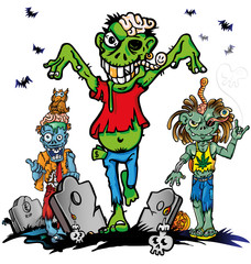 zombie cartoon set